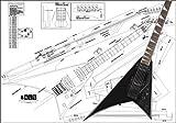 Plan d'une guitare électrique Jackson Randy Rhoads–Full Échelle d'impression