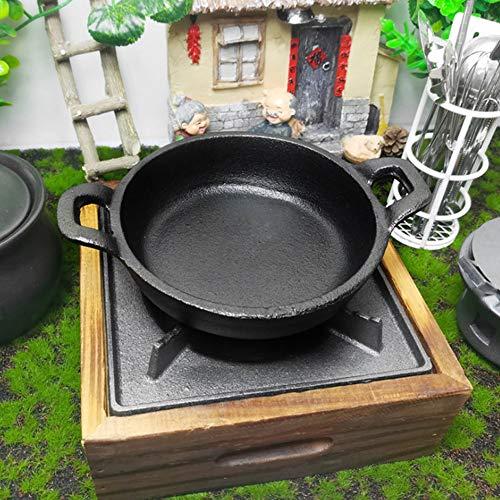 Mini sartén de hierro, sartén de dos asas, utensilios de cocina de...