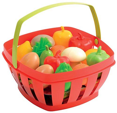 100% Chef - Cesta con frutas y verduras (Écoiffier 966) , Modelos/colores Surtidos, 1 Unidad
