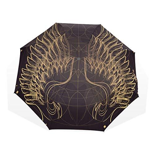 Paraguas Angel Wing Star 3 Pliegues Anti-UV a Prueba de Viento Ligero