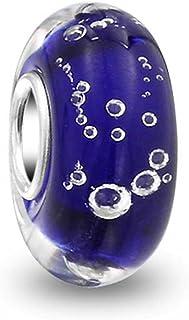 Verre murano C05270 Violet Charms Heure /& Minutes Argent rhodi/é
