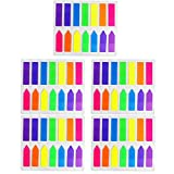 HEHALI 10 Sets Neon Page Marker Colored Index Tabs Flags Fluorescent Sticky Note for Marking for Page Marker...