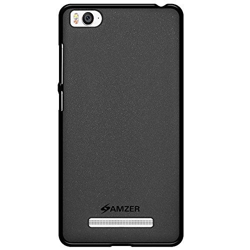 AMZER Pudding Soft Gel TPU Fit Case Cover Skin for Xiaomi Mi 4i - Retail Packaging - Black