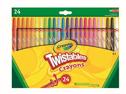 Crayola 24 Twistable Crayons 24 pieza(s) - Ceras (24 pieza(s), Multi, Multicolor, Alrededor, Cera, 6 mm) , color/modelo surtido