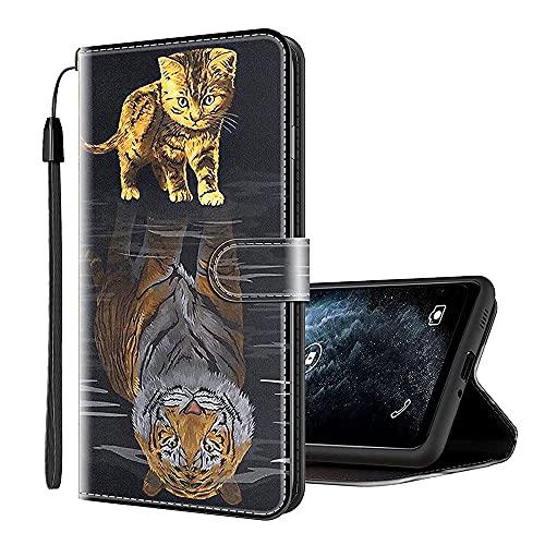 Sinyunron Handy Schutzhülle Kompatibel mit Alcatel U5 (3G) 4047D Hülle Handy Tasche Hülle Handyhülle Lederhülle mit Kartenfächer,Ständer,Magnetverschluss,Hülle01C