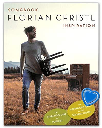 Florian Christl Inspiration - 13 Kompositionen des Albums arrangiert für Klavier mit bunter herzförmiger Notenklammer - BOE7927 9783954561926