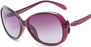 ZMP Outdoor Seaside Sunscreen UV400 Quality Ladies Polarized Sunglasses (Color : Purple)