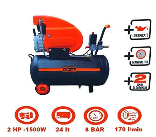 Compressore 24lt. ad olio Vinco - 60600 FDL24 (Cod.:3714)