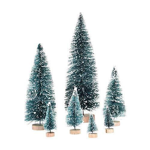 poetryer Mini Weihnachtsbäume Miniaturbäume Sisal Schneekiefer Tischbäume Für Weihnachtsfeierdekorationen DIY-Raum Schmücken Modelle