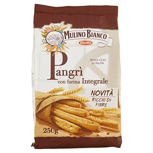 Mulino Bianco Grissini Rustici Pangrì con Farina Integrale, Snack Salato per la Merenda - 250 g