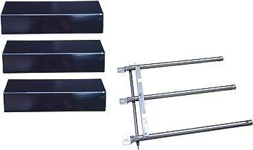 Hongso Replacement Tuscany SGR30ML Gas Grill Repair Kit Replacement Burner & Heat Plate (SBC033, PPC031)