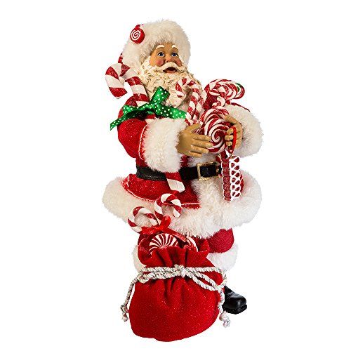 Kurt S. Adler 10.5' Santa with Candy and Sack Figure