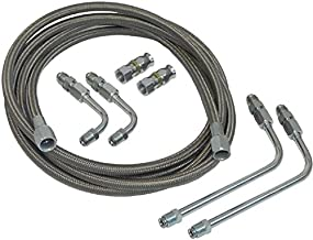 Stainless Braided Transmission Cooler Flex Hose Line Set Kit TH400 TH350 700R4 (K-3-1)