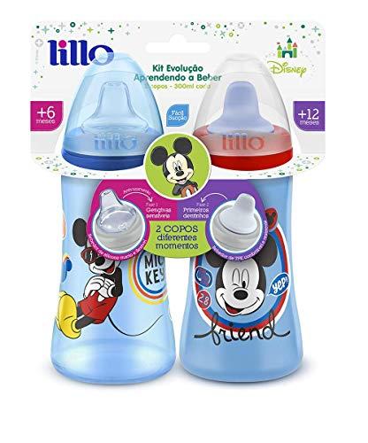 Pack 2 Copos Colors Disney - Lillo, Azul