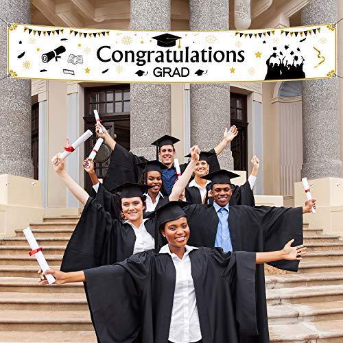 TUPARKA Abschluss Banner Dekoration 2020 , Graduation Banner für Abschluss Feier Lieferungen, 71 x 13