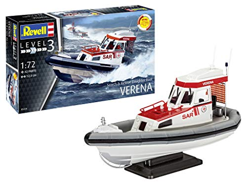 Revell 05228 10 Modellbausatz Search & Rescue Daughter-Boat VE im Maßstab 1:72, Level 3, Multicolour
