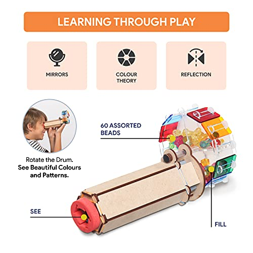 Smartivity Fantastic Optics Kaleidoscope STEM STEAM Educational DIY Building Construction Activity Toy Game Kit, Easy Instructions, Experiment, Play, Learn Science Engineering Project 6+