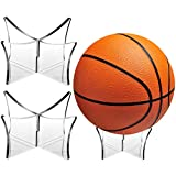 3 Pieces Football Stand Holder Acrylic Ball Display Stand Clear Basketball Football Soccer Stand for Volleyball Bowling Ball Display