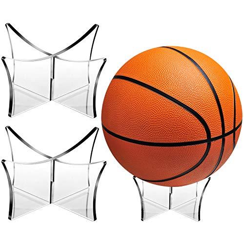 Blulu 3 Stücke Fußball Ständerhalter Acrylball Displayständer Klarer Basketball-Fußballfußballständer für Volleyball Bowlingkugel Display