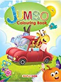 Jumbo Colouring Book - 64 pages - Activity Colouring Book for 3 to 5 years old kids - Gift to children for painting, drawing and colouring with reference guide