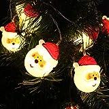 Papá Noel Cabeza Batería Luz Cadena Decoración creativa Luz LED Navidad Decoración Cadena de luz Nav...
