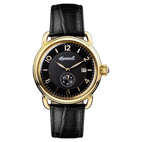 Ingersoll Herren Analog Quarz Uhr mit Leder Armband I00802