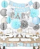 Baby Shower Decoraciones para el niño'Es un niño' Baby Shower con'OH BEBÉ' Papel de carta Globo Bebé Azul Bunting y papel de seda