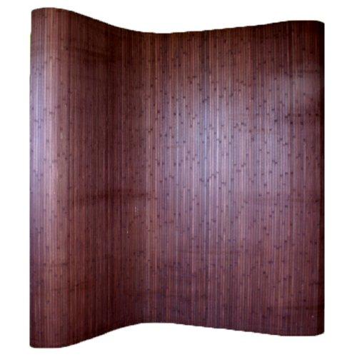 PEGANE Paravent Bambou Coloris Brun foncé, 200 x 250 cm