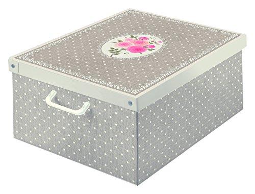 Kanguru Collection Caja de Almacenamiento en cartòn Lavatelli, Lunares, facil Montaje, Resistente, 39x50x24cm, Grande