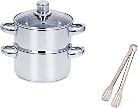 XMDD Steamer pot, home kitchen 2-layer stainless steel steamer set, outdoor, gas stove cooker universal steamer cookware (...