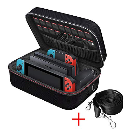 NintendoSwitchケースiVolerニンテンドースイッチ超大容量収納バッグ全面保護便利まるごとバックブラック本体と全ての周辺機器を一括収納出来る