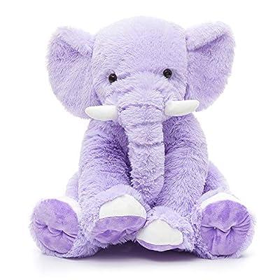 MaoGoLan Cute Stuffed Elephant Purple Soft Elephant Stuffed Animal Plush Toy 20'' from mishion