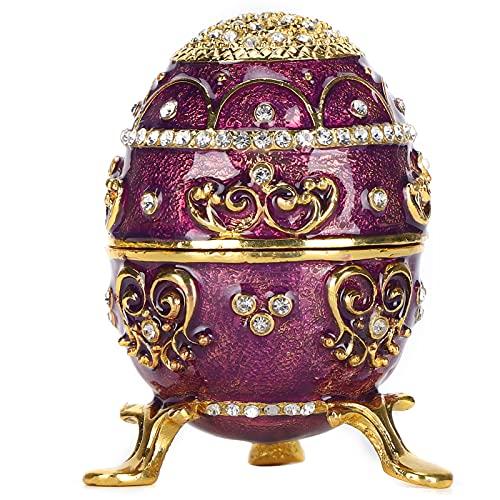 Fishawk Caja de la baratija, Joyero de la baratija Joyero del Huevo Caja de la joyería práctica para los Pendientes para el Anillo para la joyería