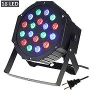 Par Lights, SOLMORE DMX-512 RGB 18 LED Party Lights DJ Disco Lights Sound Activated Stage Lighting for Wedding KTV Show Club Bar Karaoke 18W (1Pcs)