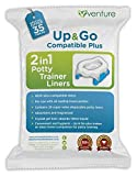 35 Pack 2-in-1 portable potty Liners, Suitable For Use With Leading Travel Potties and Pote Plus, Get 35 Up