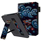 HUASIRU Portátil Caso Funda para el Nuevo Kindle (10ª generación - Modelo 2019 - no es aplicable a Kindle Paperwhite o Kindle Oasis) Case Cover, Dragón Negro