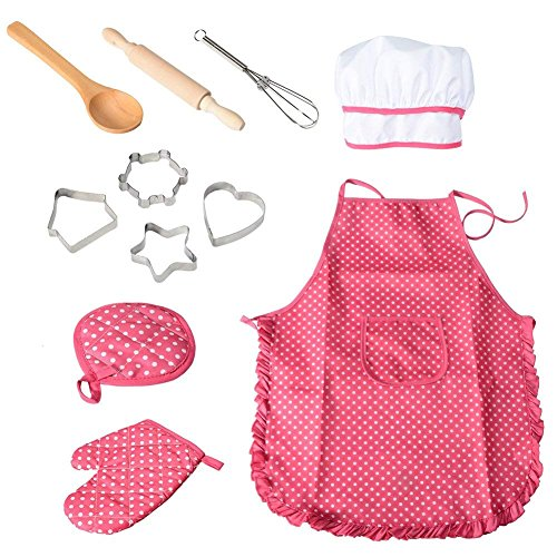 Product Image 2: Cooking, Baking Set, Chef Hat, Oven Mitt, and Other Cooking Utensils for Kids