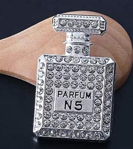 Ambientador Coche Inlay Taladro de Agua Perfor Botella de Perfume Aire Acondicionado Outlet Perfume Perfume Perfume Coche Accesorios de Coche Fragancia de Coche (Color Name : Silver)
