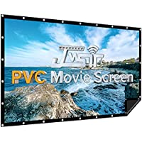 JWSIT 120 inch PVC Black Backing 1.3 Gain 176 deg.Viewing Outdoor Projector Screen Support 3D 4K 16:9 HD Image