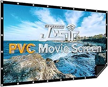 JWSIT 120 inch PVC Black Backing Outdoor Projector Screen