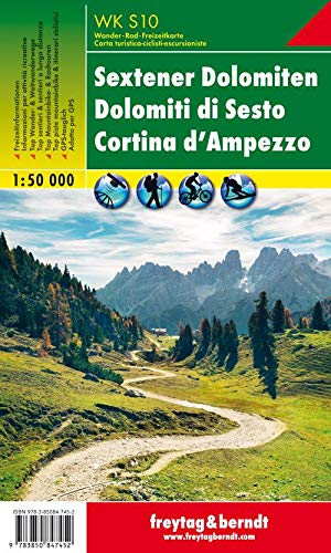 WK S10 Sextener Dolomiten - Dolomiti di Sesto - Cortina d'Ampezzo, Wanderkarte 1:50.000