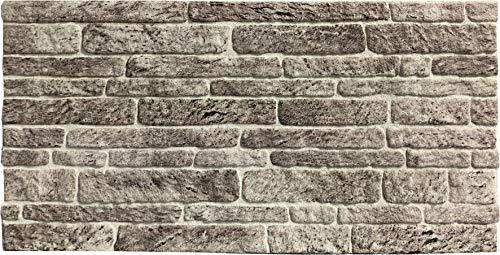 Wandverkleidung in Steinoptik für Schlafzimmer, Wohnzimmer, Küche und Terrasse in Klinkeroptik Look. (ST 260)