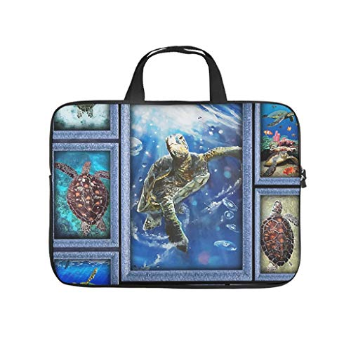 XINGYUE Sea Turtles Tablet Sleeve Personalized 3D Laptop Carrying Case Water Resistant Neoprene Notebook Carrying Case for College Students White 17inch
