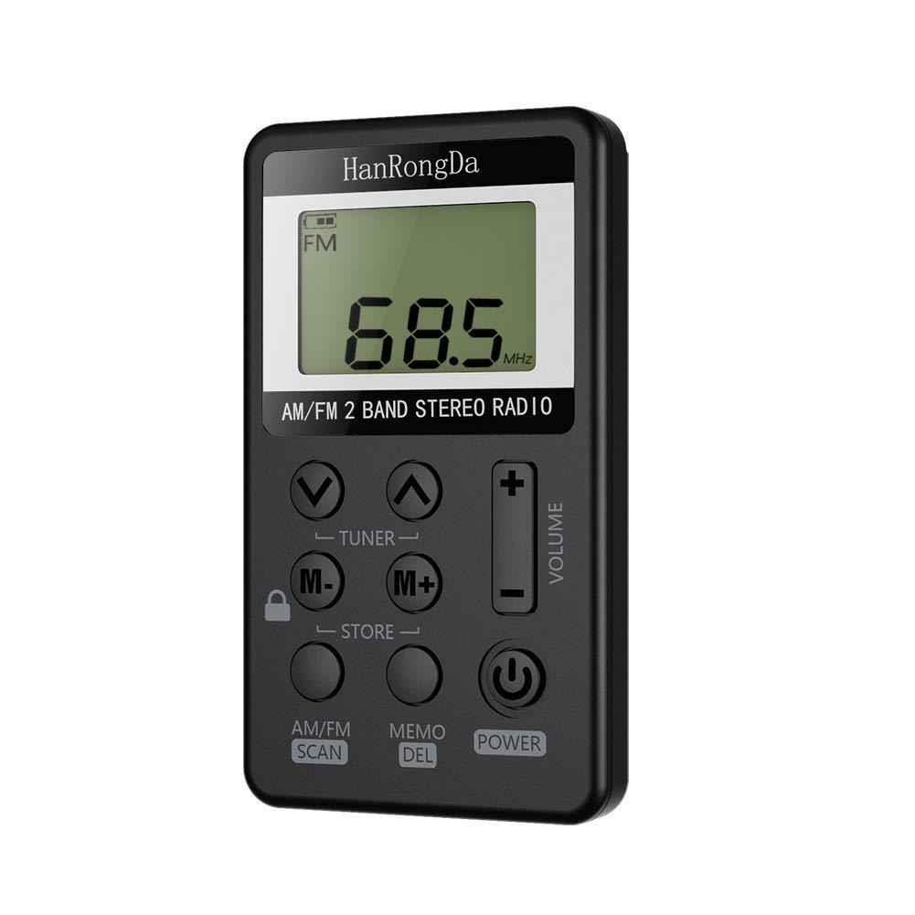 Radio Pequeña Portatil Am FM de Estéreo Digital Tuning con Pantalla LCD Recargable Mini Radio De Bolsillo Pocket Sin Auriculares: Amazon.es: Electrónica
