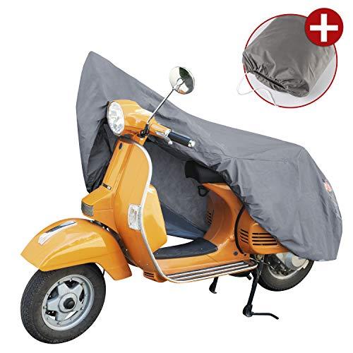 Walser 41088 Motorradgarage Scooter Größe S, Abdeckplane PVC - 185 x 90 x 110 cm grau, Motorradabdeckung