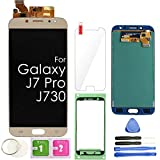 J7 PRO LCD Screen Replacement Touch Display Digitizer Assembly (Gold) for Samsung Galaxy J730 2017 J730G J730F SM-J730F/DSM J730FM/DSM J730G/DS J730GM/DS