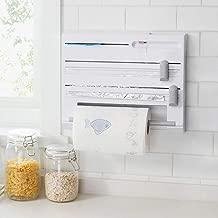 6-in-1 Wall-Mounted Paper Towel Holder- Kitchen Cling Film Foil Dispenser Paper Towel Holder Sause Bottle Storage with Spice Rack