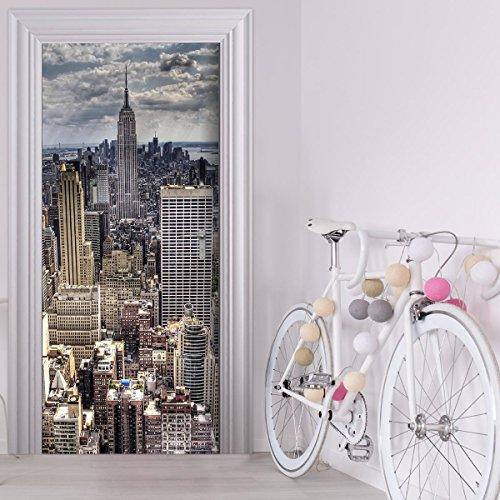 StickerProfis Türtapete selbstklebend TürPoster - Skyline New York - Fototapete Türfolie Poster Tapete