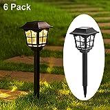 Maggift 6 Lumens Solar Pathway Lights Solar Garden Lights Outdoor Solar Landscape Lightsfor Lawn Patio Yard Pathway Walkway, 6 Pack
