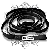 Tumaz Stretch Strap - 10 Loops & Non-Elastic Band - The Ideal Home Workout Stretching Strap for PT(Physical Therapy), Yoga, Pilates, Dance - [Extra Thick, Durable, Soft - Comes with Travel Bag]